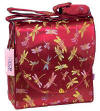 Dark red dragonfly diaper bag