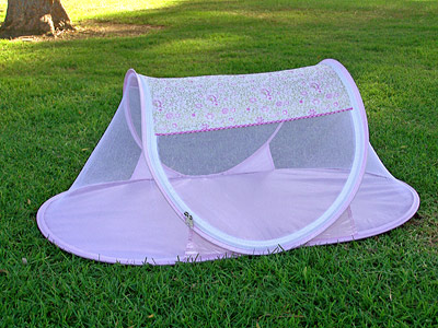 White-Pink Floral Baby Tent & Wholesale I Frogee Baby Tents | Beach Tents | Insect Tents | Pop ...