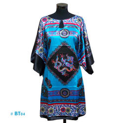 Blue caftan with Chinese Dragon