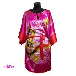 Hot pink dragon caftans