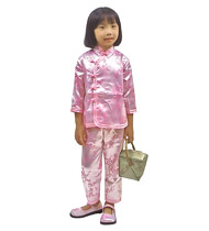 Chinese girl's outfit - pink