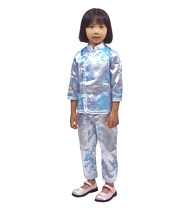 Chinese girl's outfit - silver