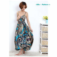 Floral print fashion dresses SR07-1
