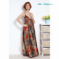 Floral print fashion dresses SR07-3