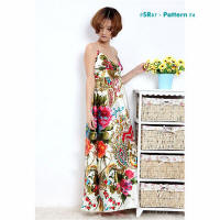 Floral print fashion dresses SR07-4