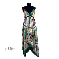 Green fashion dress sr09