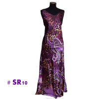 Dark purple leopard print long dresses