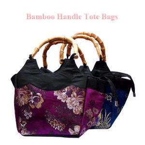 Bamboo Handled Tote Bags