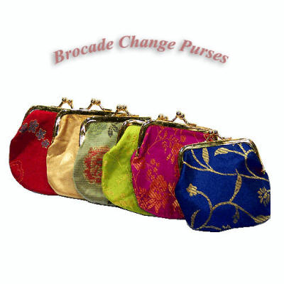 Brocade Metal-Framed Change Purses
