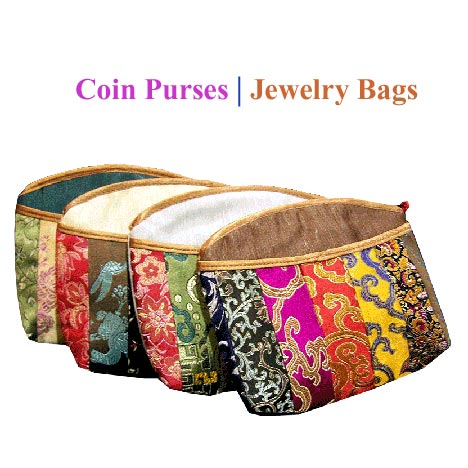 small brocade purses