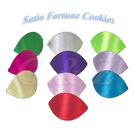 Satin fortune cookies shape snap purses