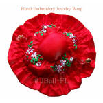 Red floral jewelry wraps