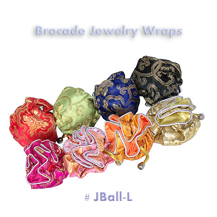 Brocade jewelry wraps - large
