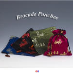 Horse & Carriage Brocade Pouches