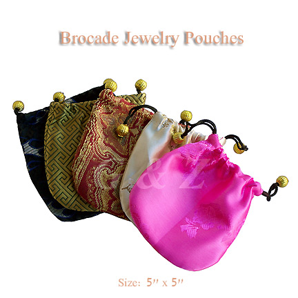 Little brocade favor bags or jewelry bags