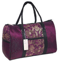 Maron brocade travel bags
