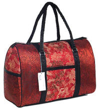 Red dragon brocade travel bags