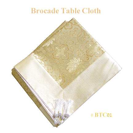 Gold fortune flower brocade tablecloths