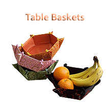 Oriental table baskets
