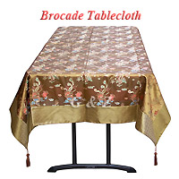 brocade tablecloths