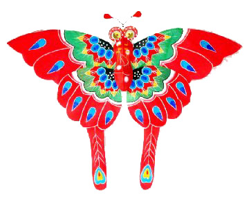 Red Chinese butterfly kites