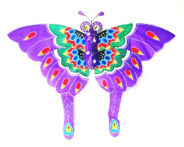 Purple Chinese butterfly kites