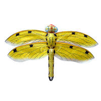 Yellow gold dragonfly kite