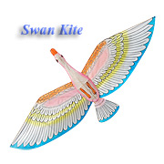 Swan Kite with blue wings