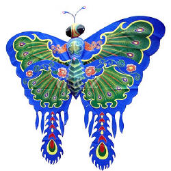 Large butterfly kite with phoenix