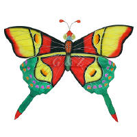Silk Butterfly Kite- red and green