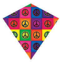Nylon diamond kites - peace