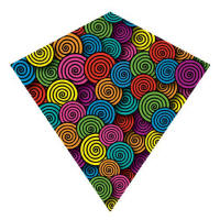 Nylong diamond kites -swirl