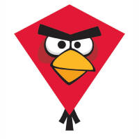 Red Nylon Angry Birds Kites