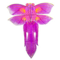 Purple flat goldfish kite
